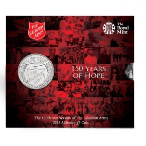 COMMEMORATIVE SALVATION ARMY COIN PRODUCED BY THE ROYAL MINT